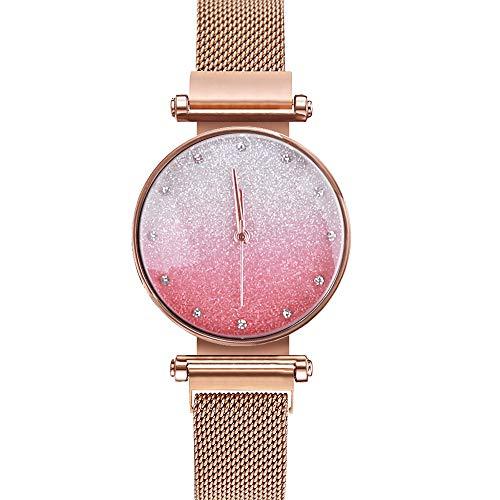 Dames Horloge Quartz Horloge Vol Sterren Luxe Diamond-Encrusted Mode Kleurverloop