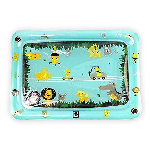 Tapis de Jeu Aquatique Tummy Temps Eau Mat for bébés Gonflable Tapis de Jeu sensoriel Jouets d'activité Tapis for Tout-Petits Nouveau-nés (Color : Blue, Size : 80X60CM)