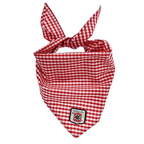 Alpenglück Baby-Tuch aus Baumwolle I Schönes Jungen-Tuch in Rot-Weiß I Dreieckiges Lätzchen, kariert I Dreieckstuch aus Webware I Wunderschöne & flauschige Kinderaccessoires