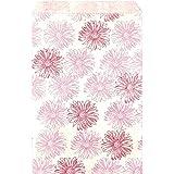 RJ Displays- 200 Pcs Pack Flower Paper Gift Paper Bags, 4