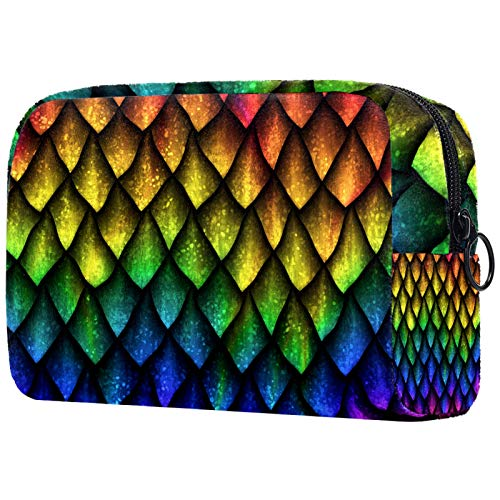 Travel Toiletry Bag,Ultra-Light Cosmetics Bag Makeup Organizer (7.3x3x5.1in) Texture of Dragon Small Makeup Bag/Cosmetic Bag Travel Cosmetic Bags Hand-held PVC Cosmetic Pouch