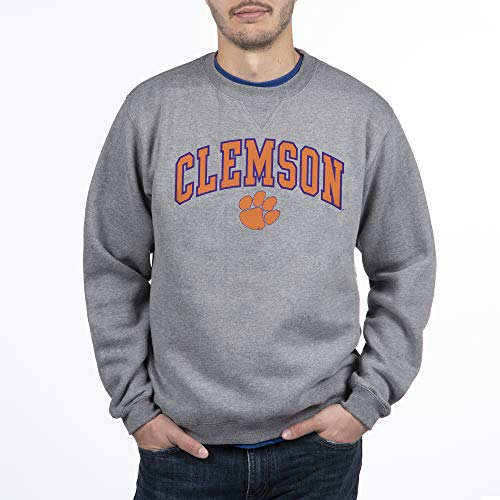 Top of the World Clemson Tigers Men's Crewneck Charcoal Gray Sweatshirt, Medium