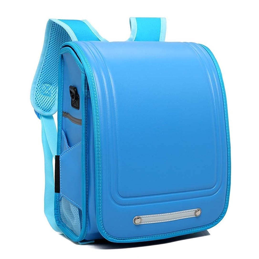 キャリッジ新しい意味四半期XSWZAQ 青の男の子および女の子のための和風の子供の子供のバックパックPUの古典的な高容量袋