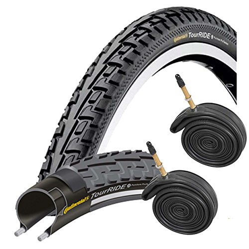 Continental Tour Ride 700 x 32c Bike Tyres with Presta Tubes (Pair)
