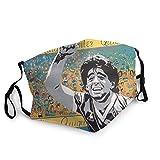 D-iego A-rmando Maradona Cara C-over Navidad Anti-polvo Polaina cuello bufanda bufanda bufanda para mujeres y hombres al aire libre 02
