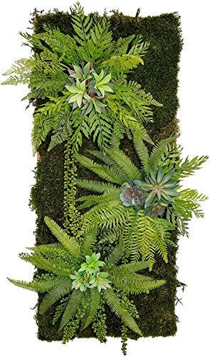 Maia Shop Jardín Vertical, Ideal para Decoración del Hogar u Oficina, Diseño de Espacios, Árbol, Flor, Planta Artificial (115 x 50 cm)