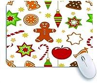 ECOMAOMI 可愛いマウスパッド クリスマスのシームレスなパターン 滑り止めゴムバッキングマウスパッドノートブックコンピュータマウスマット