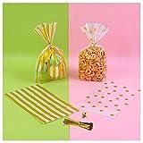SIKAMARU 200 Bolsas OPP duraderas de celofán para Galletas, Productos horneados, Dulces, Caramelos, Tartas y Snacks para el Embalaje de Regalos navideños. (200Pcs)