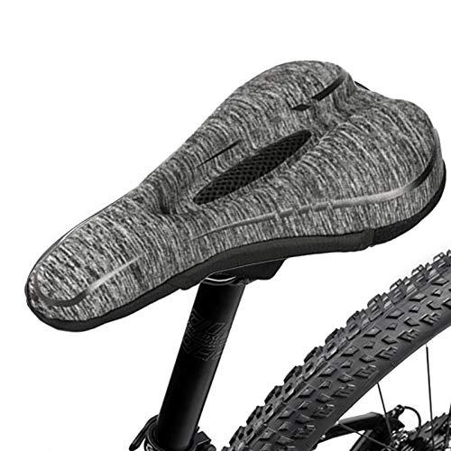 josietomy Funda para sillín de bicicleta de espuma viscoelástica de rebote lento y silicona, cómodo cojín para ciclismo al aire libre