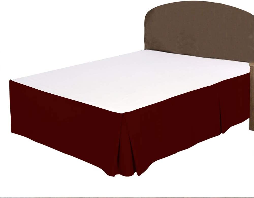 Boston Mall SEAL limited product BRIGHTLINEN 1PCs Box Pleated Bed Expanded Burgundy Skirt Queen