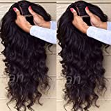 S-noilite , parrucca ondulata in capelli veri brasiliani non trattati, lace front senza collanti,...