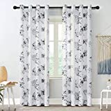 """READY MADE CURTAINS: Sold in pair per package,52""""W x 84""""L /panel,Two panels measure 104""""W x 84""""L in totel,Silver Grommet top design allows for easy hanging on a standard curtain rod up to 1.5"""" in diameter.For proper look and fullness, panels should m..."""