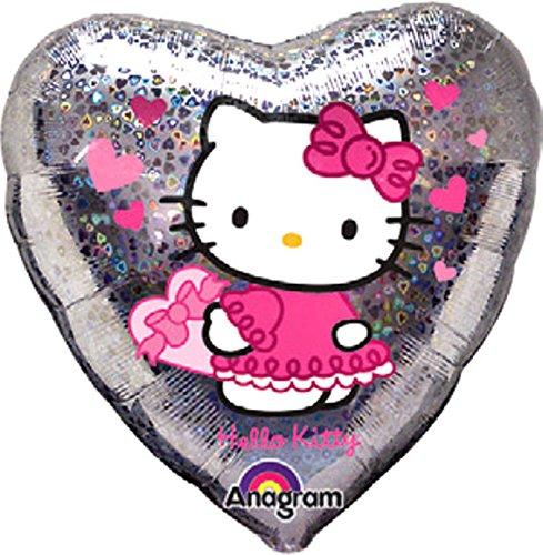 1 Stück Folien-Herzballon 'Hello Kitty - Love Hearts', ca. 45 cm Ø, ohne LOLLIPOP-Gasfüllung