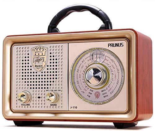 Retro Portable Radio AM FM Shortwave Radio Transistor Battery Operated Vintage Radio with Bluetooth...
