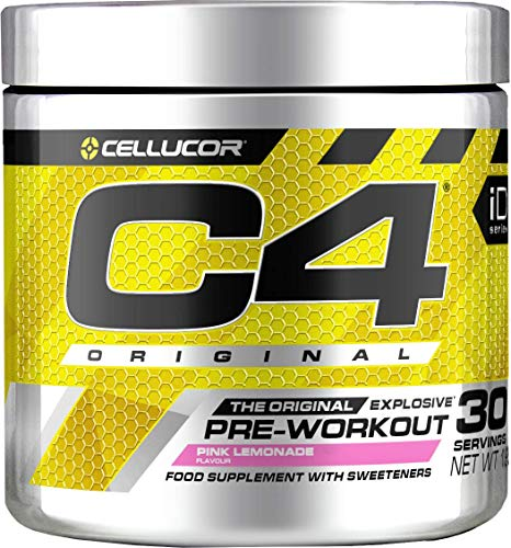 C4 Original Pre Workout Powder Pink Lemonade | Preworkout Energy Drink Supplement | 150mg Caffeine + Beta Alanine + Creatine Monohydrate | 60 Servings