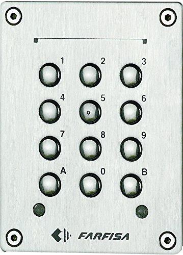 Farfisa FC32P Codeschloss, Unterputzinstallation, 2 Steuerkontakte, Edelstahl, 1.5 W, 12 V, 1 Stück