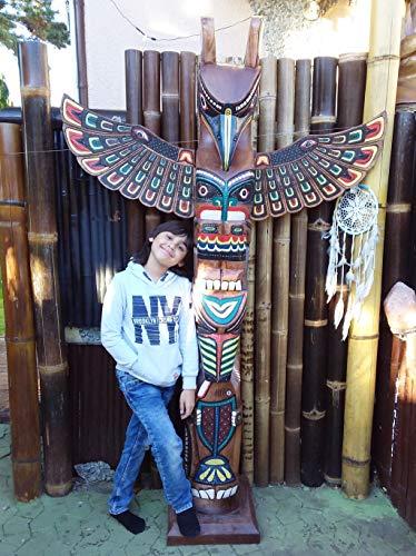 Little Big Horn Totempfahl Albesia Holz Dekoration Totem Pole Wood Deco Original Marterpfahl 2,00 Meter 2019