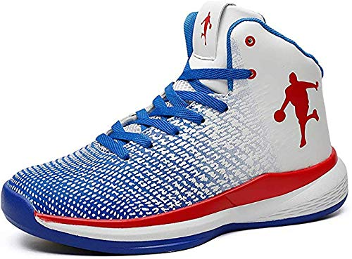 Sooiy 2019 Neue Basketball-Schuhe Schuh-Basketball-Turnschuh-Frühjahr-Herbst-Premium-Slip-Resistant Wear,Blau,42