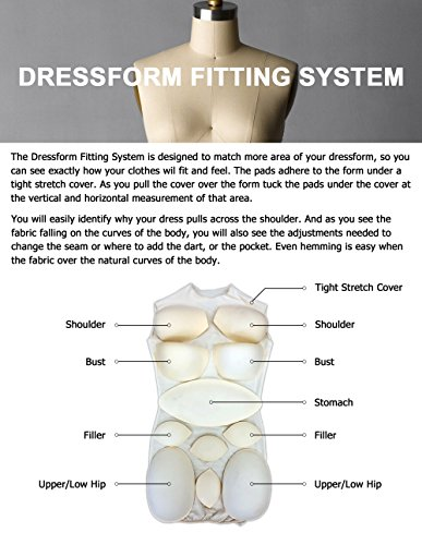 Female Dress Form Padding System for Professional Dress Forms (12 Piece Kit)