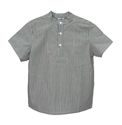 AS Bekleidungswerk GmbH Modas Sommer Kinder Fischerhemd Kurzarm, Größe:128, Farbe:Marine/weiß