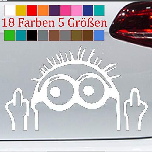 Generic Minion Mittelfinger Aufkleber Shocker Auto Car Tuning Sticker 18 Farben 5 Größen