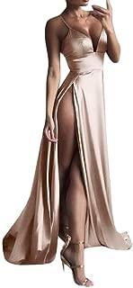 Boomboom Women V Neck Side Split Sleeve Evening Gown Long Dresses
