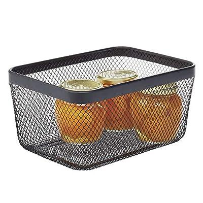 mDesign Metal Wire Food Organizer Storage Bin by