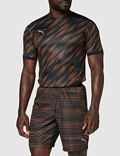 PUMA Herren ftblNXT Graphic Shorts Black-Shocking Orange, XXL