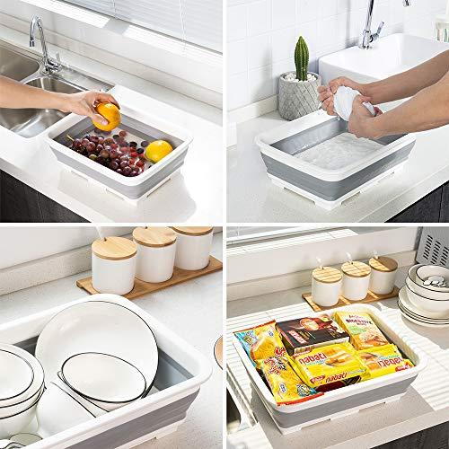 SOLPEX 洗い桶 折りたたみ 台所 おけ 抗菌 洗い桶 シリコン キッチン 収納 省スペース 洗濯 掃除 バス トイレ 食器の付け置き アウトドア キャンプ バーベキュー 浸け置き 洗い持ち運び 内外に適用 多機能 安全素材 一年間品質