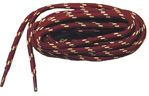 GREATLACES Burgundy w/Yellow Kevlar (R) proTOUGH(TM) Boot Shoelaces 2 Pair Pack (54 Inch 137 cm)