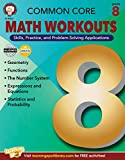 Mark Twain Common Core Math Workouts Resource Book, Grade 8, Ages 13 - 14, 64 Pages