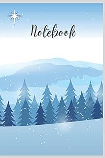 Notebook: Winter Scene in Blue