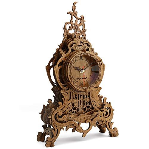 Amy & Benton Reloj de Rompecabezas 3D, construcción de Madera para Adultos, Modelos de Reloj de Madera para Construir