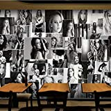 Fototapete 3D Europäischen Stil Retro Star Poster Großes Wandbild Fashion Shop Cafe Bar Kino Wandverkleidung-200(W) x 140(H) cm