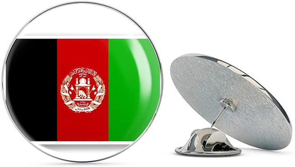 Afghanistan Flag Round Metal 0.75