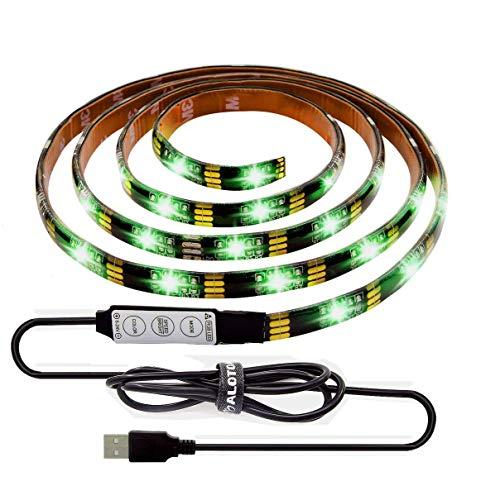 """ALOTOA 150cm Leds Bias Lighting for 24""""-60"""" HDTV - Waterproof LED Light Strips 5V USB Powered RGB Backlight Kit for Desk Desktop PC Monitor"""