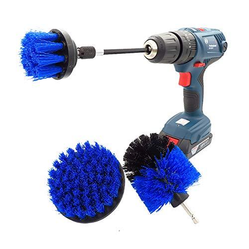 Cepillo depurador eléctrico Cuarto de baño de 4 piezas Kit de limpieza de superficies de piso de madera azulejo de la esquina de la esquina de la esquina del cepillo de lavado de la broca para la limp