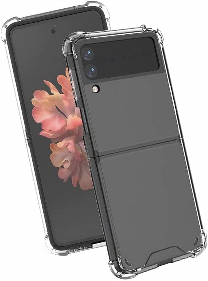 Clear Case for Galaxy Z Flip 3,Z Flip 3 5G Case,Ultra Thin Crystal Soft TPU Rubber Scratch Resistant Anti-Slip Phone Case for Samsung Galaxy Z Flip 3 5G,2021 (Clear)