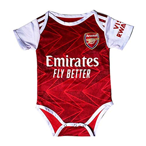 Football Club Home Soccer Baby Onesie BodySuit Unisex Multi-Team Optional (Arsenal #14 Aubameyang, 0-9 Monthes)