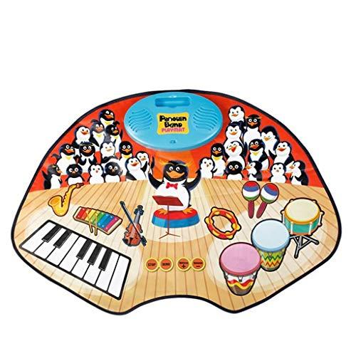 RMXMY Piano Drum Music Blanket Baby Boy Kinder Drum Drum Keyboard Drum Früherziehung Spielzeug Jungen und Mädchen Musik Geburtstagsgeschenke