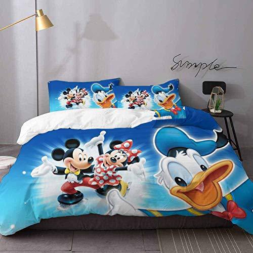 Christmas Comforter Sets Mickey & Minnie Mouse Duvet Comforter Quilt Bedding Covers Bedding 3 Piece Duvet Cover Set Queen