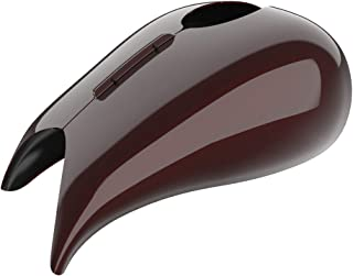 Moto Onfire Color-Matched Stretched Tank Covers Gallon Fuel Shrouds Fit for Harley Touring 2008-2020 Street Glide Road Glide (Twisted Cherry)