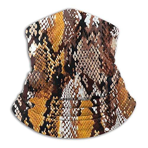 ASDTF Pañuelo de microfibra para el cuello con piel de serpiente, para clima frío, invierno, deportes al aire libre, bandana unisex