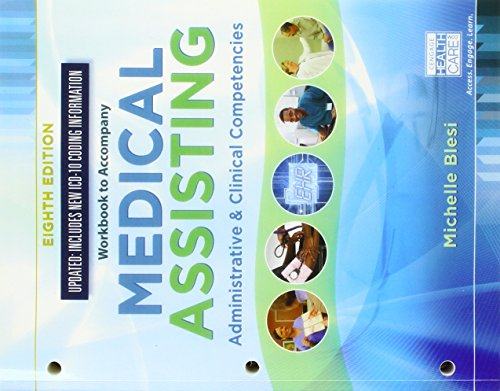 Compare Textbook Prices for Student Workbook for Blesi's Medical Assisting: Administrative & Clinical Competencies 8 Edition ISBN 9781337909877 by Blesi, Michelle