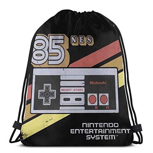 Yuanmeiju NES Controller Retro Stripe 85 Graphic Drawstring Backpack/Cosmetic Bag/Coin Purse/Bracelet/Necklace/Headband/Keychain/Sticky Note