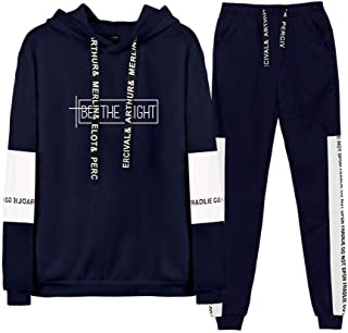 DS Unisex 《Real Hasta la Muerte》 《Be The Light》 Felpa con Cappuccio Pantaloni Sportivi Tuta Bello Comodo Uomo Donna Hip-Ho...