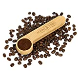 2 in 1 Coffee Clip & Scoop   1 Tablespoon Measurement and Airtight Coffee Bag Seal Peg   Beech Wooden Wooden Loose Tea, Ground Coffee & Bean Saver   M&W