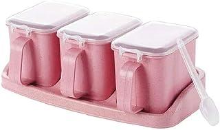 SCDZS 4 Grille Cuisine Assaisonnement Organisateur, for Le sel de Sucre épices Aginomoto boîte de Rangement Boîte Rack, Co...