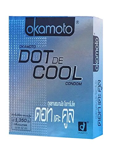 Okamoto condoms generation Dot De Cool 1 box. (Quantity of 2)