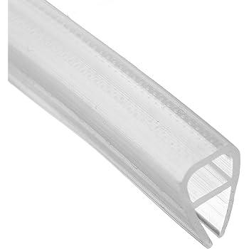 dDanke - Tira de sellado transparente para mampara de ducha (2 m de longitud, para cristal de 6 a 12 mm), 10 mm: Amazon.es: Hogar